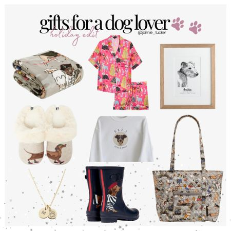 Some gift ideas for that friend or partner who loves their fur babies! | #giftguide #holidaygiftguide #christmasgiftguide #doglovergifts #personalizedgifts #etsygifts #JaimieTucker  #LTKGiftGuide #LTKHoliday