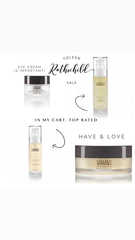Coleen Rothschild skincare sale. This line is luxurious and will blow you away. The cleansing balm comes with a muslin clothe that dries fast at your sink or shower. 25% off code FAMILY25  #LTKunder100 #LTKbeauty #LTKsalealert
