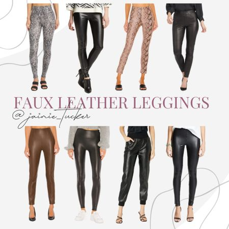 I love wearing faux leather anything! Especially faux leather leggings. Check out some of my picks here. | #fauxleatherleggings #bestsellers #womensleggings #fauxleather #falloutfits #workwear #dinneroutfit #fauxleatherpants #JaimieTucker  #LTKstyletip #LTKworkwear