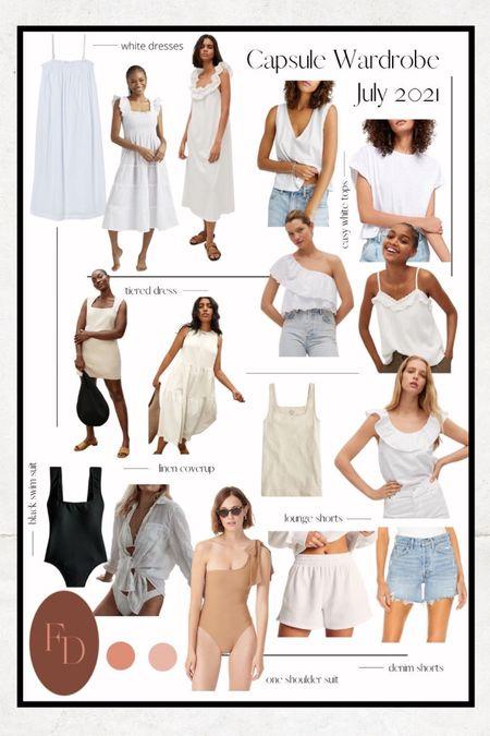 July's capsule wardrobe. @liketoknow.it http://liketk.it/3j0lO #liketkit #LTKunder100 #LTKstyletip #LTKswim