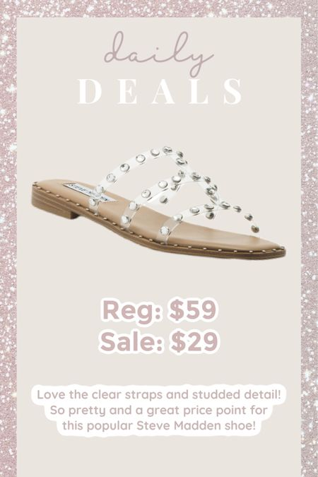 Love the clear straps and studded detail! So pretty and a great price point for this popular Steve Madden shoe! http://liketk.it/3cnTL #liketkit @liketoknow.it #LTKsalealert #LTKshoecrush #LTKunder50 Shop your screenshot of this pic with the LIKEtoKNOW.it shopping app