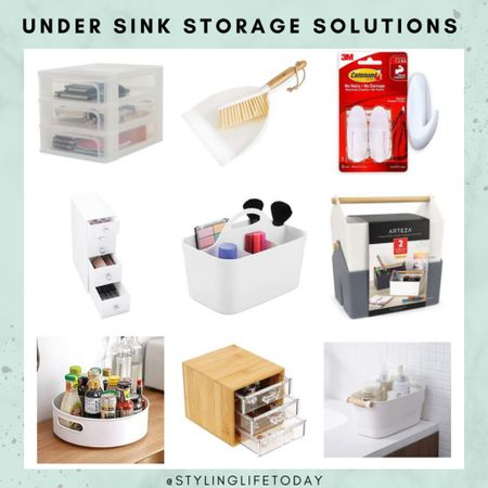 Under the sink storage solutions. Organising. Organization. Home organizer. Clutter free. Home edit. Marie kondo.   #LTKunder50 #LTKhome #LTKeurope