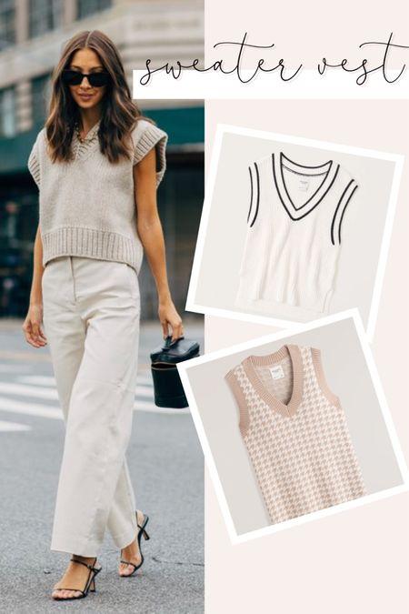Loving the sweater vest trend! Rounding up a few of my favorites!   #LTKunder100 #LTKstyletip