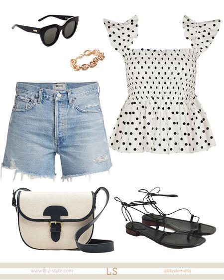 Denim shorts. Summer outfit  http://liketk.it/3hQIt #liketkit @liketoknow.it #LTKshoecrush #LTKstyletip #LTKsalealert