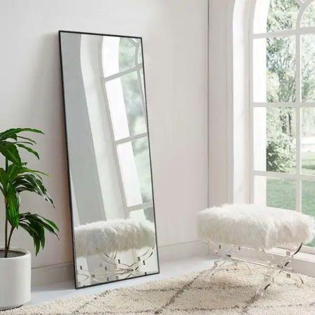 Affordable, modern, Oversized 71x34 Gold, Black, Silver Leaning Floor Mirror on sale! 👏🏼  #LTKhome #LTKsalealert