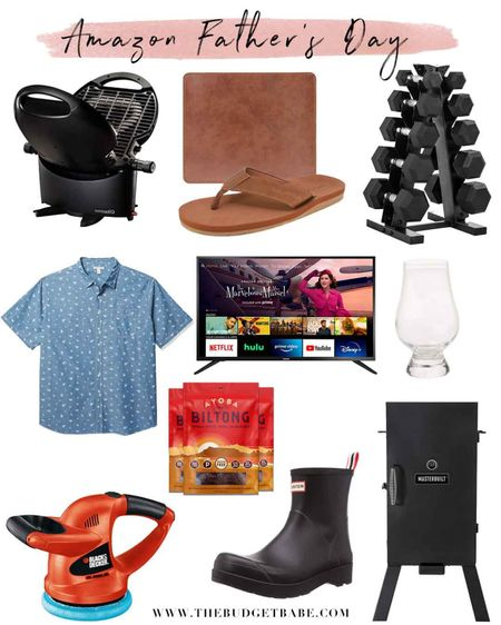 Amazon Father's Day gift guide! Portable grill, gym at home essentials, leather mouse pad, leather flip flops, Prime Day deals on TVs, car buffer, beef biltong, smoker, Hunter boots and whiskey glasses (we have these!) http://liketk.it/3h35W #liketkit @liketoknow.it #LTKmens