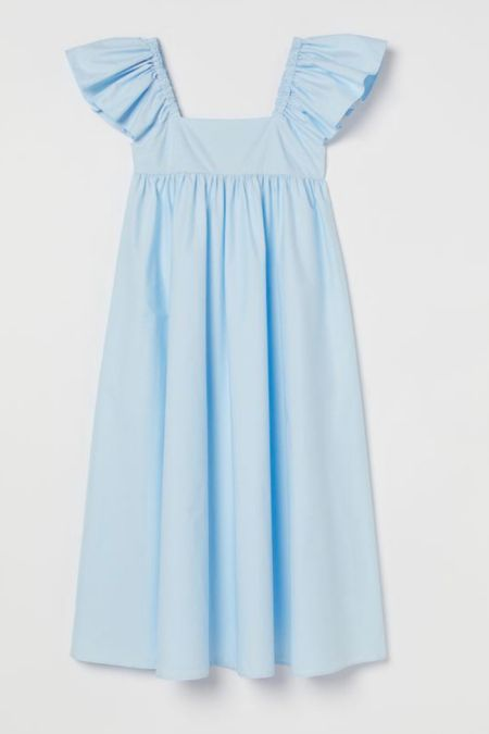 Love this ruffle sleeveless dress to finish out the hottest summer days in style. Around $50, it's a good price point for a timeless classic dress that you'll wear on repeat.   #ltkdresses #ltkpetite #fashionafter40 #rufflesleeve #napdressdupe  #LTKstyletip #LTKunder50