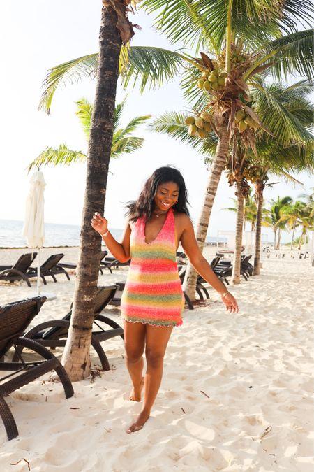 Halter dress, fall beach vacation