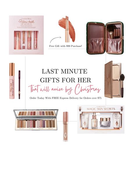Last Minute Gift Ideas for Her that will arrive by Christmas with FREE express delivery! 👏🏼 Plus, if you spend $99 you get a free lipstick! 😍 Makeup gift set ideas. Gifts for mom, sister, girlfriend, mother-in-law, best friend.  #LTKgiftspo #LTKsalealert #LTKbeauty