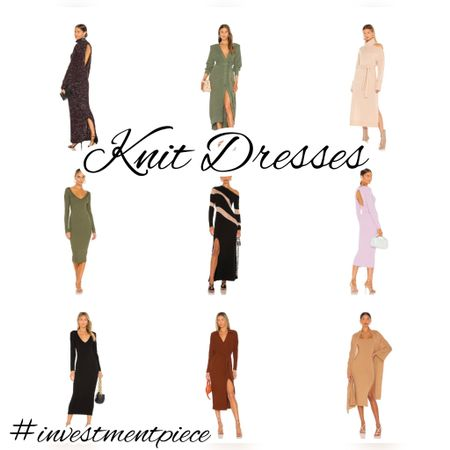 A must for the fall season? A knit dress. I love this selection- cut outs, colors, capes and more- all to keep you cozy and chic! #investmentpiece   #LTKSeasonal #LTKstyletip