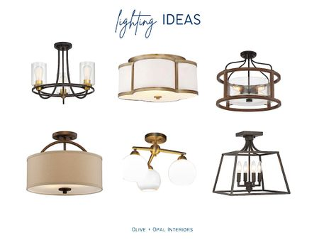 Out with those boob lights and in with these stylish semi flush lights, all under $200  Semi flush lighting, lighting ideas, home decor, flush lighting, lighting updates  #LTKhome