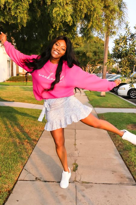 Friday vibes! This pink sweater is perfect to start the weekend   #LTKunder50 #LTKstyletip #LTKunder100