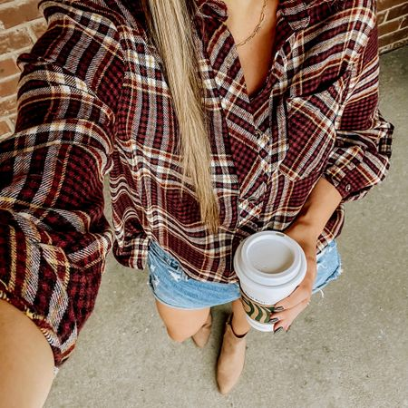 Let the girls have their PLAID and PSL's! 🍂☕️  #LTKSeasonal