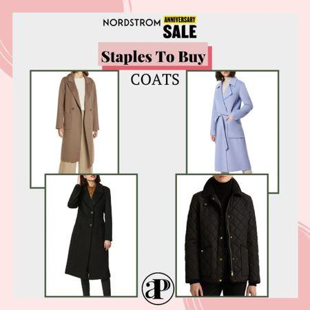 Nordstrom Anniversary Sale - Staples to Buy - Coats #liketoknowit #nsale   #LTKstyletip #LTKsalealert