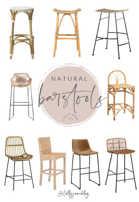 Create a natural element to your dining room with these pretty rattan barstools. We have these boho barstools and love them🤍    #LTKfamily #LTKunder100 #LTKhome