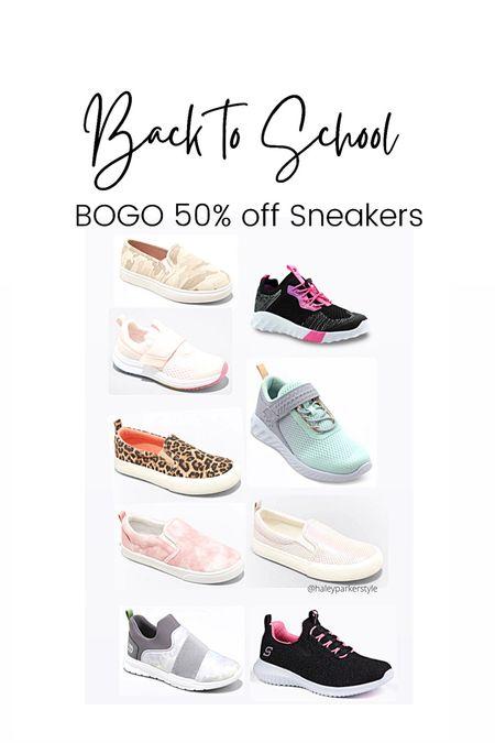 Back to school shoes Girls sneakers BOGO shoes Target sale   #LTKkids #LTKsalealert #LTKshoecrush