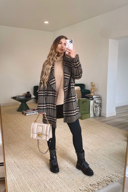 Nordstrom Anniversary Sale 2021  Avec Les Filles Plaid Coat - size small Free People Sweater - size xs Zella Leggings - size small  @liketoknow.it http://liketk.it/3jI80 #liketkit #LTKsalealert #LTKunder50 #LTKunder100