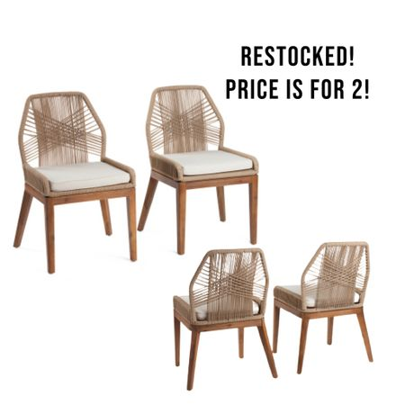 Dining chairs, rope chairs, designer dupe  #LTKhome