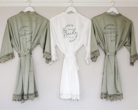 Sage robe by LaurenOliviaStudio on Etsy!   http://liketk.it/3j8uv @liketoknow.it #liketkit #LTKwedding #LTKstyletip #LTKunder50
