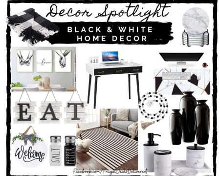 Living room, bathroom, office, kitchen black and white home wall decor! Buffalo plaid, stripes, vases, beads for tiered decor, items for your home office.    Screenshot this pic to get shoppable product details with the LIKEtoKNOW.it shopping app make sure you follow FrugalDealsDelivered for more ideas and collage inspiration! http://liketk.it/3aKlf #liketkit @liketoknow.it #StayHomeWithLTK #LTKfamily #LTKSpringSale  #LTKhome @liketoknow.it.home