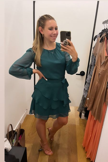 Love this dress for a fall wedding or holiday party!!   #LTKSeasonal #LTKHoliday #LTKwedding