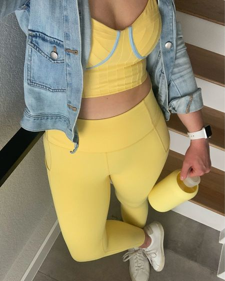 Anyone else super into yellow right now?? 💛 loving this adorable matching set and conveniently my new bkr matches 😍 #liketkit #activewear #fabletics #gapstyle #mybkr @liketoknow.it http://liketk.it/3dPln