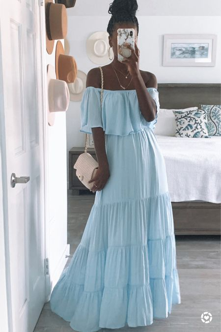 Summer maxi dress   #LTKunder50 #LTKsalealert #LTKSeasonal