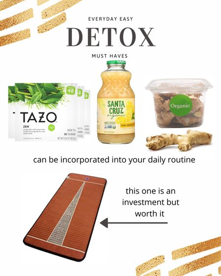 Everyday #detox finds plus the BioMat I use to help sweat out toxins and repair damaged cells. http://liketk.it/36bqH #liketkit @liketoknow.it #wellness #greentea #detoxification #thebookofcaleb #healthyhabits