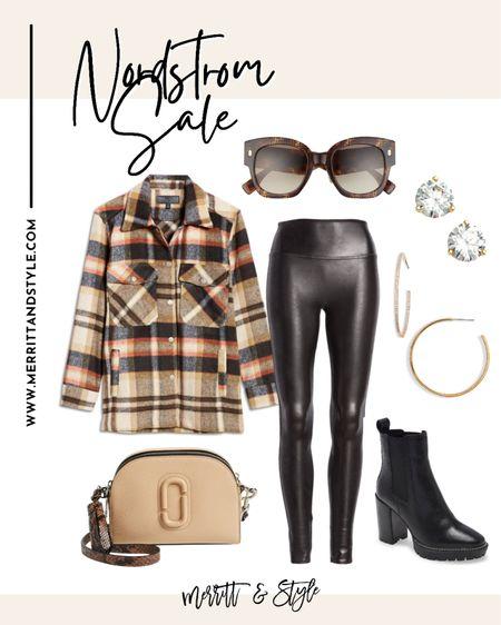 How to style spanx leggings plaid shacket on sale Nsale Nordstrom favorites http://liketk.it/3jC48 #liketkit @liketoknow.it #LTKstyletip #LTKunder50 #LTKsalealert