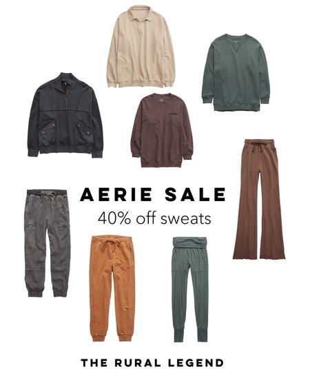 Sale alert at @aerie! Sweatshirts snd joggers are 40% off! 🙌🏻  #LTKcurves #LTKsalealert #LTKSeasonal