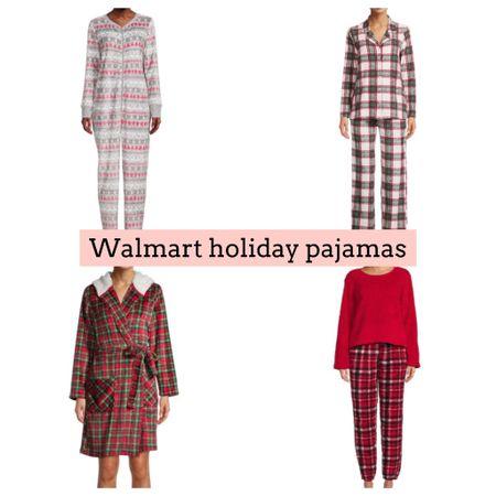 Walmart fashion. Pajamas. Holiday pajamas. Tartan. Plaid   #LTKSeasonal #LTKGiftGuide #LTKHoliday