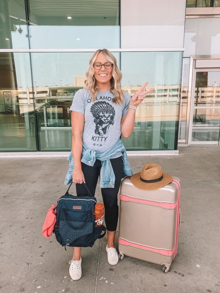 Linking my new Amazon laptop holder backpack that holds just as much as a giant tote back while being way more compact and organized! It's $36 and comes in three colors. Hasta luego, merica! ✈️  #LTKunder50 #LTKtravel #LTKitbag