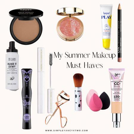Makeup, bronzer, summer makeup, mascara, cc cream  #LTKbeauty #LTKunder50 #LTKSeasonal