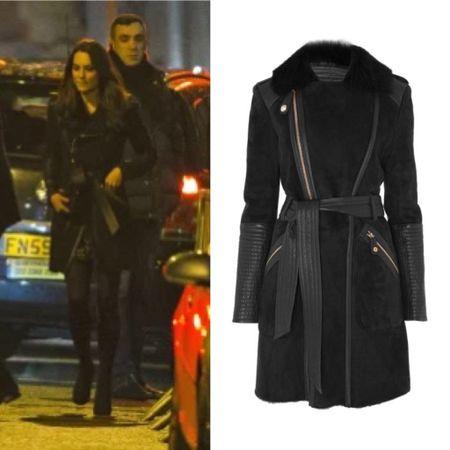 Kate in Temperley London coat #shearling #teddy #wrap #belted   #LTKeurope #LTKstyletip