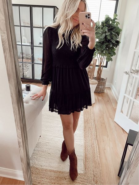 Smocked dress under $40! This thing is darling and SO comfy! All one piece! I'm wearing 4-6 for length. TTS   #LTKwedding #LTKunder50 #LTKstyletip
