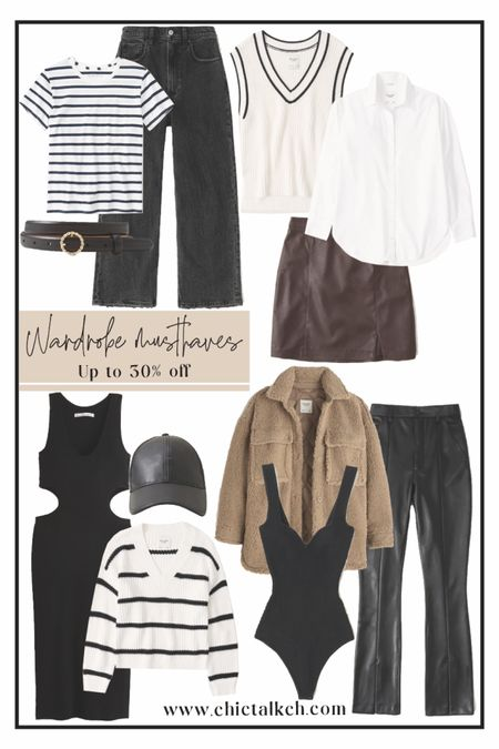 Take up to 30% off these wardrobe staples! Abercrombie, fall fashion , fall style, fall outfit, puffy jackets, faux leather jackets  #LTKunder100 #LTKstyletip #LTKsalealert