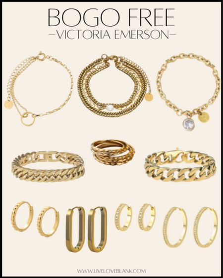 BOGO free last day gold jewelry  Bracelets, necklaces , earrings  My most worn chunky ones are included!!  I'm ordering these rings for myself too  #LTKGiftGuide #LTKsalealert #LTKunder50
