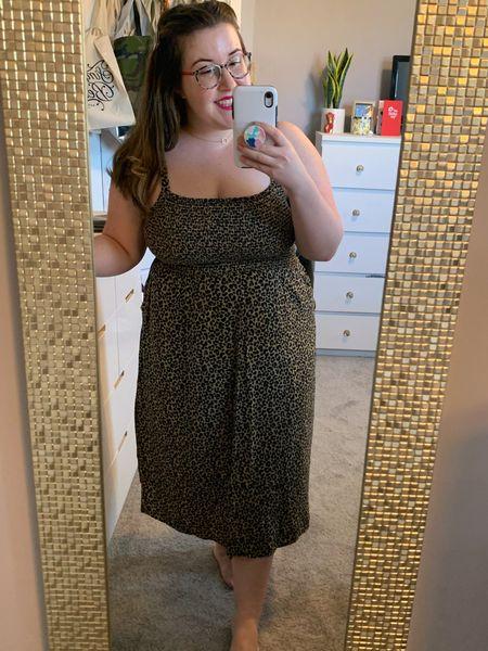 What a comfortable & super cute dress for spring & summer! I'm wearing a size L.   #LTKcurves #LTKSpringSale #LTKunder50