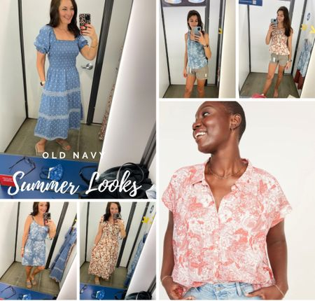 New dresses, shirts and tops from Old Navy! Great prices for summer! Loving corals and blues for summer!     #LTKstyletip #LTKSeasonal #LTKunder50