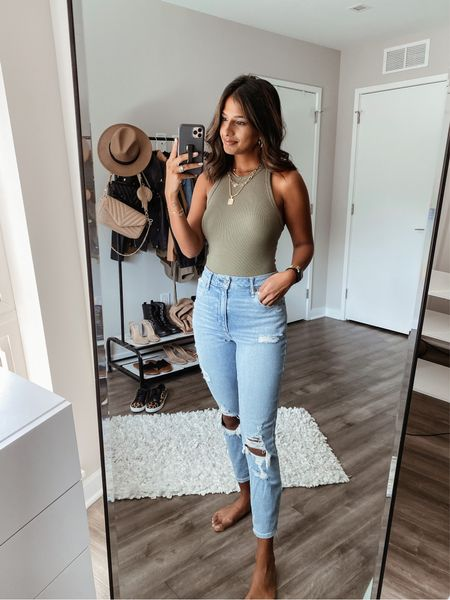 last day of LTK sale! some of my favorite Abercrombie pieces 🤍  ✨in a 27w short for the denim✨ ✨XS on the bodysuit✨  #abercrombie #denim #affordable #bodysuit #staple #sale  #LTKSale #LTKunder50 #LTKstyletip