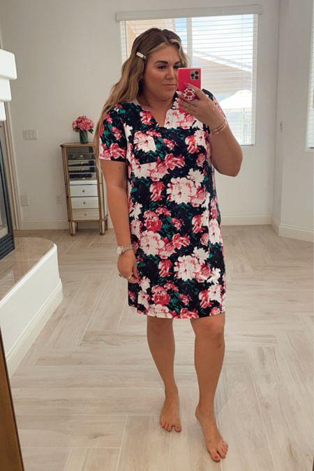 floral curvy cozy sleep dress! wearing the size xl http://liketk.it/3gNCk #liketkit @liketoknow.it #LTKcurves #LTKunder50