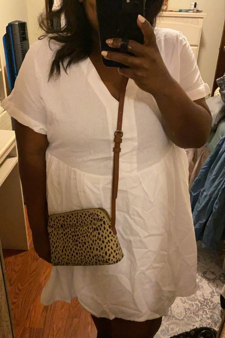 Wearing a xxl in the white dress, love the leopard crossbody! All from Target!   #LTKcurves #LTKunder50 #LTKstyletip