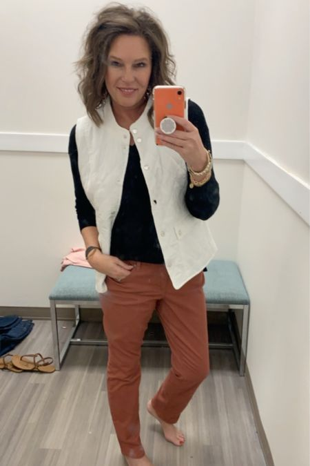 Rust is going to be a huge color trend this Fall!! And these Crown and Ivy jeans are perfect! http://liketk.it/2ENeD @liketoknow.it  . .  You can instantly shop my looks by following me on the LIKEtoKNOW.it app #liketkit #LTKworkwear #LTKunder100 #LTKunder50 #LTKstyletip #LTKsalealert #LTKshoecrush #ootd #falltrends #fallfashion #over40style #over50style #over40 #womensfashion