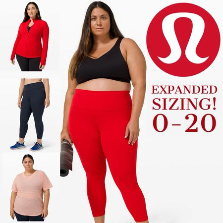 Yassss! lululemon has dropped their expanded sized collection! Size 0-20!  Go to thesweatedit.com to see the full collection #lululemon   #StayHomeWithLTK #LTKworkwear #LTKcurves