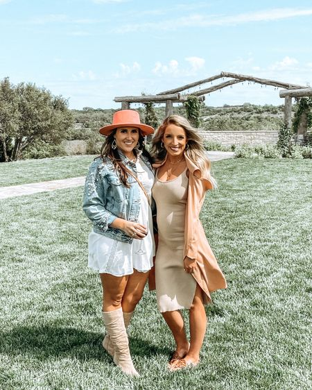 Had so much fun celebrating @amylynbeauty Bachelorette party in Fredericksburg! 👰🏻♀️🎉 I did the wineries sober, but got much needed girl time & lots of laughs! I'm linking my outfit here & ICYMI I did a spring dress on with the other options I ordered on my stories! It's saved in my highlights & all linked on the LIKEtoKNOW.it app 💗 http://liketk.it/3e7UG #liketkit @liketoknow.it #LTKbump #LTKunder50 #LTKwedding