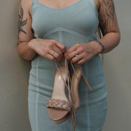 Braided strappy heels from Express. Perfect for any occasion   #LTKHoliday #LTKshoecrush #LTKSeasonal