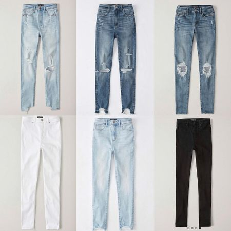Abercrombie jean sale! I'm 5'4 and normally wear short. I sized up one in the white. http://liketk.it/2CM73 #liketkit @liketoknow.it