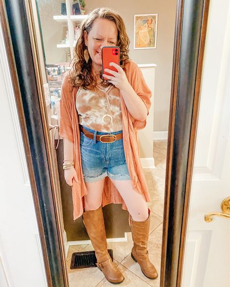 Shorts, bodysuit, boots spring outfit   Shop your screenshot of this pic with the LIKEtoKNOW.it shopping app @liketoknow.it http://liketk.it/3eJOL #liketkit #LTKcurves #LTKstyletip #LTKunder50