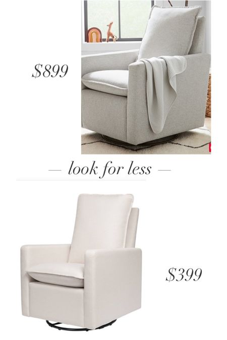 Pottery Barn look-for-less! My nursery glider looks just like this PB kids one. We've been super happy with our $399 nursery chair so far! Linking my ottoman that I got to match the cream chair too. http://liketk.it/3hbIA @liketoknow.it #liketkit #LTKbaby #LTKhome #nursery #targethome
