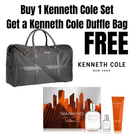 BOGO Kenneth Cole Men's Duffle bag & fragrance!  http://liketk.it/3ghhS #liketkit @liketoknow.it #LTKunder100 #LTKmens #LTKbeauty